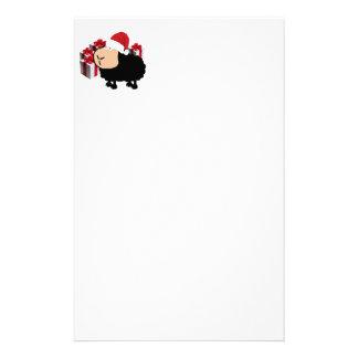Funny cute Santa cartoon sheep Christmas Stationery