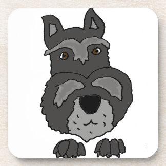 Funny Cute Schnauzer Dog Art Drink Coasters