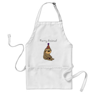 Funny Cute Sloth Party Animal Standard Apron