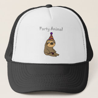 Funny Cute Sloth Party Animal Trucker Hat