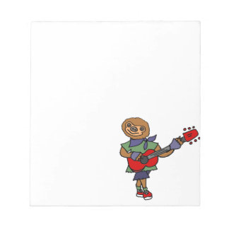 Funny Cute Sloth Playing Guitar Notepads