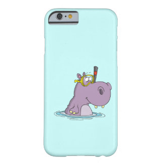 funny cute snorkeling swimming hippo barely there iPhone 6 case