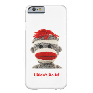 Funny Cute Sock Monkey I Phone 5 case iPhone 6 Case
