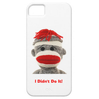 Funny Cute Sock Monkey I Phone 5 case iPhone 5 Cases