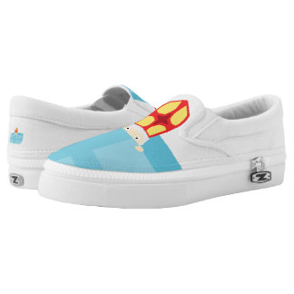 Funny Cute St. Nicholas Dutch Sinterklaas Kids Art Slip-On Sneakers