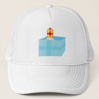 Funny Cute St. Nicholas Dutch Sinterklaas Kids Art Trucker Hat