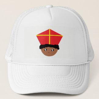 Funny Cute St. Nicholas Miter Zwarte Piet Kids Art Trucker Hat
