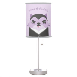 Funny, Cute Table Lamp with Dracula