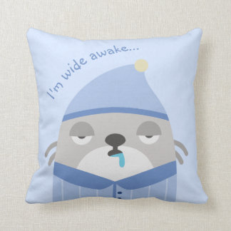 Funny, Cute Throw Pillow for Sofa or Bed