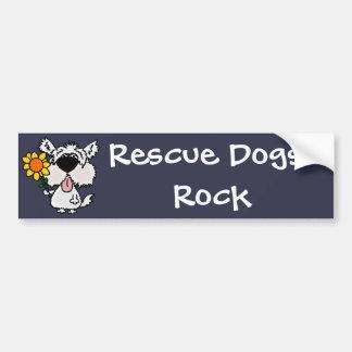 Funny Cute White Shaggy Puppy Dog Bumper Sticker