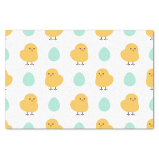 Funny cute yellow chick egg easter illustration tissue paper