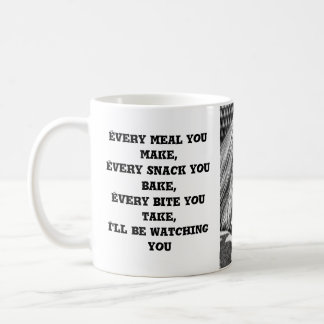 Funny Cute Yorkshire Terrier Dog Black and White Coffee Mug