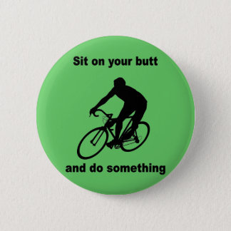 Funny cycling 2 inch round button
