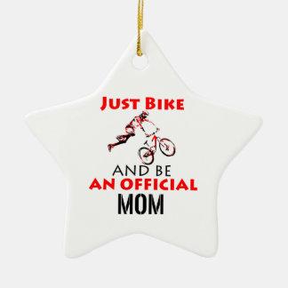 Funny Cycling mom Ceramic Ornament