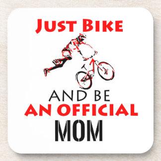 Funny Cycling mom Coaster