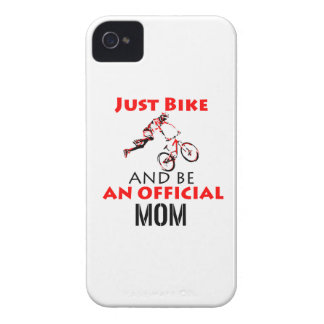 Funny Cycling mom iPhone 4 Case-Mate Cases