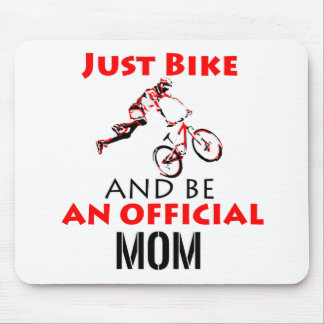 Funny Cycling mom Mouse Pad