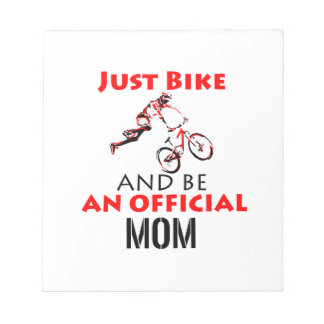 Funny Cycling mom Notepad