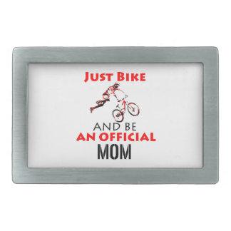 Funny Cycling mom Rectangular Belt Buckle