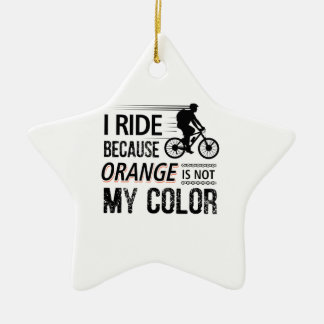 Funny Cycling Tees Ceramic Ornament
