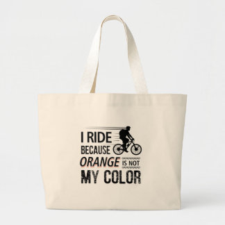 Funny Cycling Tees Large Tote Bag