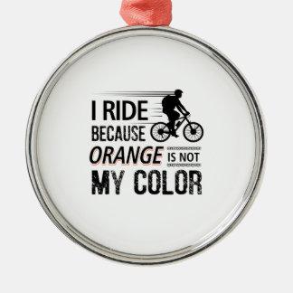 Funny Cycling Tees Metal Ornament