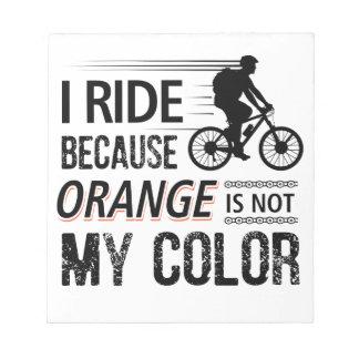 Funny Cycling Tees Notepad