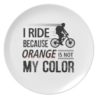 Funny Cycling Tees Plate