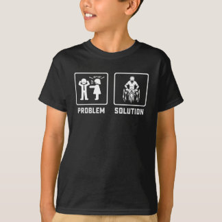 Funny cycling therapy problem T-Shirt