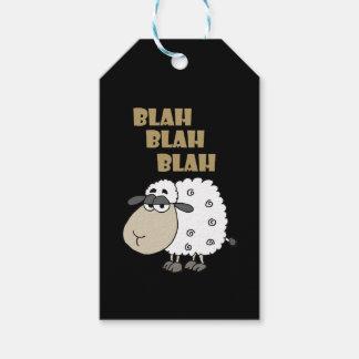 Funny Cynical Sheep says Blah Blah Blah Gift Tags