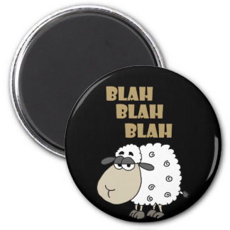 Funny Cynical Sheep says Blah Blah Blah Magnet
