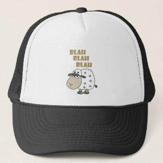 Funny Cynical Sheep says Blah Blah Blah Trucker Hat