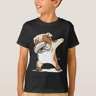 Funny Dabbing English Bulldog Dog T-Shirt