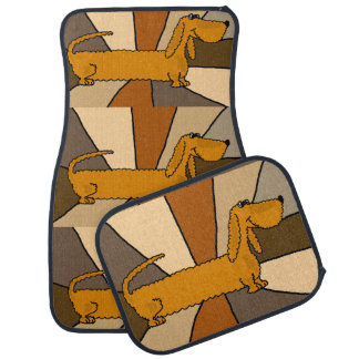 Funny Dachshund Dog Art Car Mat