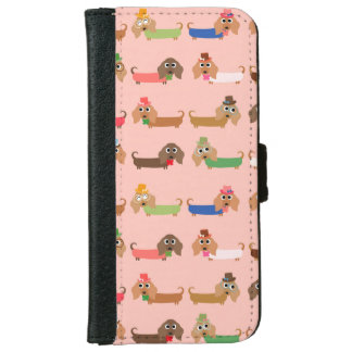 Funny Dachshund Dogs iPhone 6 Wallet Case