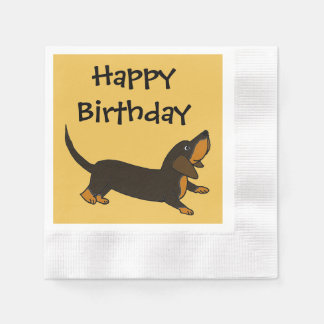 Funny Dachshund Playful Puppy Dog Disposable Napkins