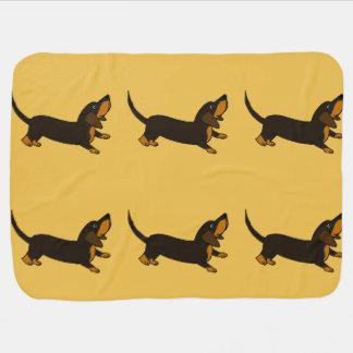 Funny Dachshund Playful Puppy Dog Swaddle Blanket
