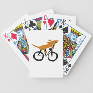 Funny Dachshund Riding Bicycle Poker Deck