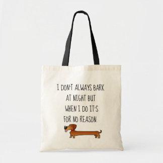 Funny Dachshund tote bag