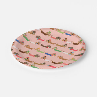 Funny Dachshunds Paper Plate