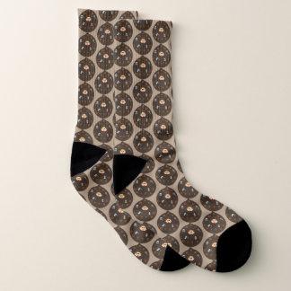 Funny Dad Monster Loves Coffee Patterned Socks