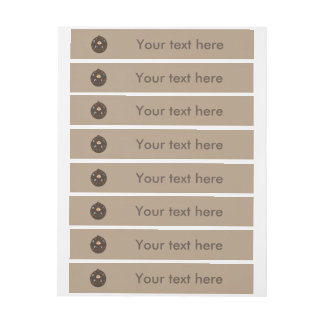 Funny Dad Monster Loves Coffee Personalized Labels Wraparound Address Label