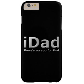 Funny Dad Phone App Joke On Black Barely There iPhone 6 Plus Case
