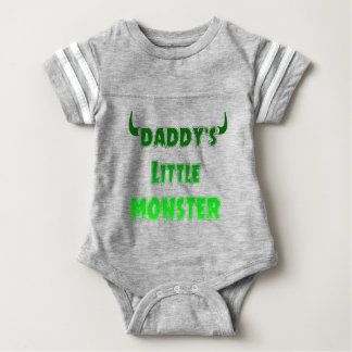 Funny Daddy's Little Monster - Goth Baby Clothing Baby Bodysuit