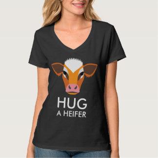 Funny Dairy Farm Hug a Heifer T-Shirt