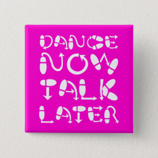 Funny dance 2 inch square button