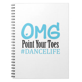Funny Dance Gift Teacher Omg Point Your Toes Notebooks