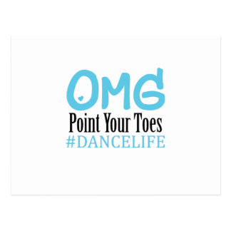 Funny Dance Gift Teacher Omg Point Your Toes Postcard