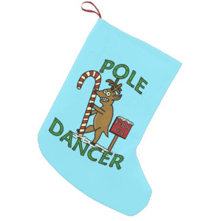 Funny Dancer Christmas Reindeer Pun Small Christmas Stocking