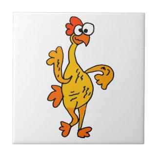 Funny Dancing Rubber Chicken Ceramic Tile